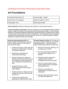 Art Foundations - Campbellsport Public Schools