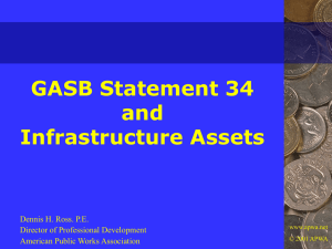 GASB Statement 34 and Infrastructure Assets