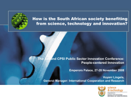 Lingela CSIR CPSI Conference