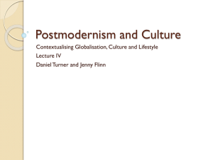 Postmodernism and Culture