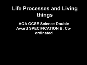 Life Processes and Living things