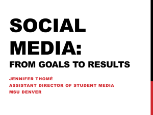 Social Media: From Goals to Results