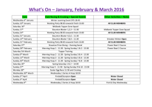 What's On Jan, Feb, March 2016