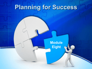 Planning for Success presentation