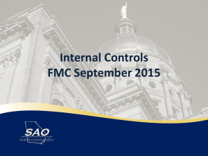 Internal Control Update