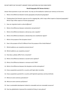 DO NOT WRITE ON THIS SHEET! ANSWER THESE QUESTIONS