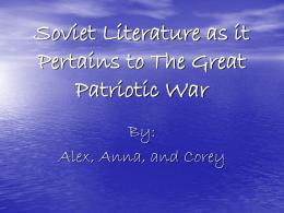Soviet Literature During WWII