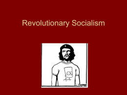 Revolutionary Socialism - New Jersey City University