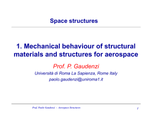 1. Mechanical behaviour of structural materials and