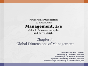 Global Dimensions of Management