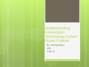 Understanding Information Technology System Project Failure