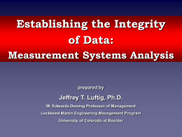 An Introduction to Measurement Systems Analysis
