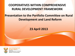 COOPERATIVES WITHIN COMPREHENSIVE RURAL