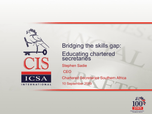 Bridging the skills gap - Chartered Secretaries Southern Africa