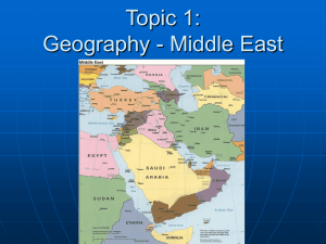 Objective 19: The Modern Middle East