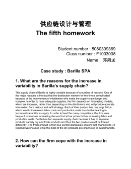 barilla spa barilla spa case study barilla alimentare spa the  operations management case analysis barilla spa case study barilla spa 1 what are the reasons for