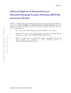 Taxation Planning - Bookkeeping Education