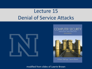 Denial of Service Attacks - Computer Science & Engineering