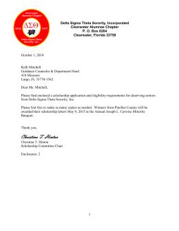 Sample Delta Sigma Theta Recommendation Letter