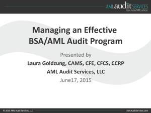 Managing an Effective BSA/AML Audit Program