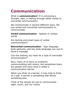 Healthcare Communication Notes