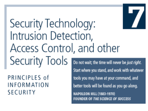 Blueprint For Security Chapter 6 - Department of Accounting and