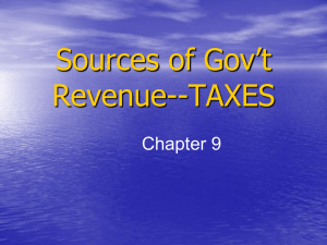 Sources of Gov't Revenue-