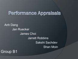 Performance Appraisals - University of Warwick