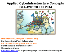 Applied CyberInfrastructure Concepts ISTA 420/520