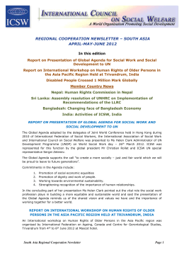 South Asia Newsletter April - June 2012
