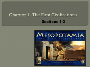 Chapter 1- The First Civilizations