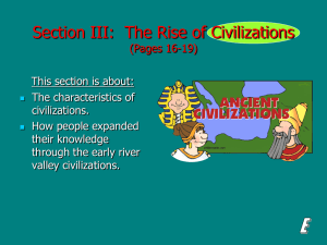 (Section III): The Rise of Civilizations