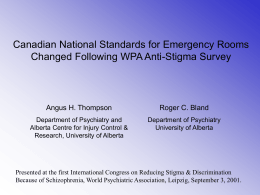 Canadian National Standards for Emergency