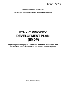 II. Legal and Policy Framework on Ethnic Minority People