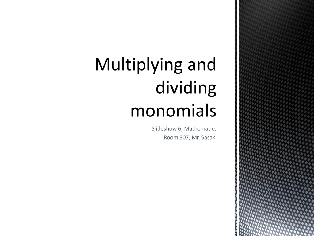 Worksheets Multiplying And Dividing Monomials Worksheet multiplying and dividing monomials