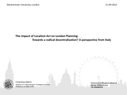 The Impact Of Localism Act On London Planning