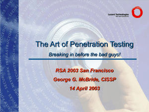 The Art of Penetration Testing