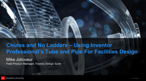 Using Inventor Professional's Tube and Pipe For