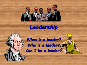 Leadership power point. ppt