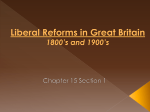 Liberal Reforms in Great Britain 1800's and 1900's