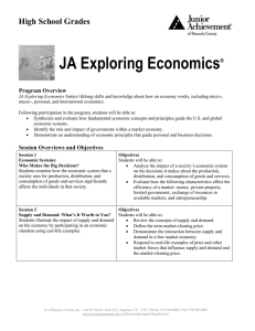 JA Exploring Economics