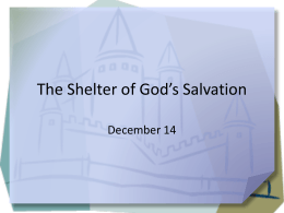 The Shelter of God's Salvation