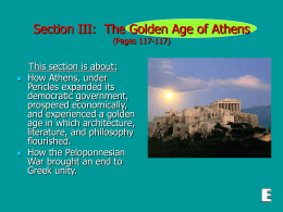 Section III: The Golden Age of Athens (Pages 117