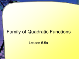 Family of Quadratic Functions