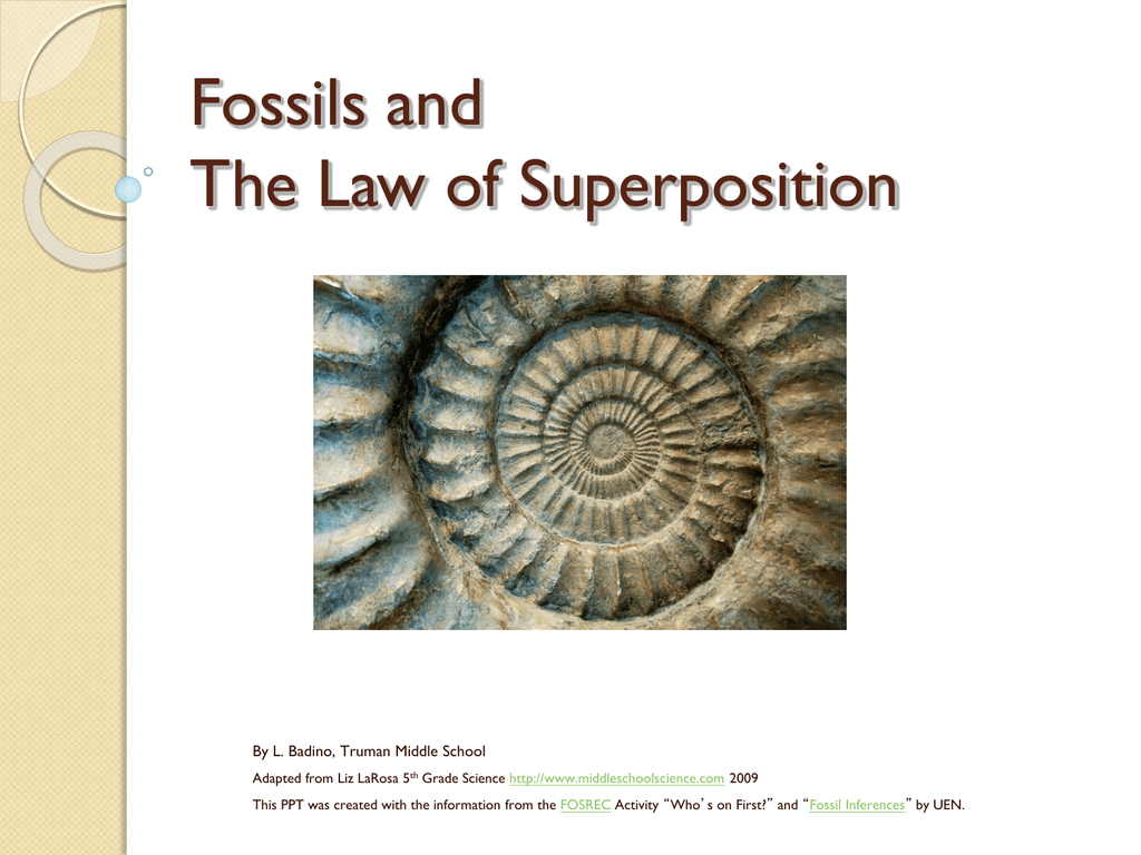 Fossils and Law of Superposition Powerpoint