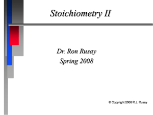 Stoichiometry Limiting Reagent