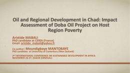 Oil and Regional Development in Chad Impact Assessment