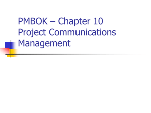 PMBOK - Charter 8 - Project Quality Management