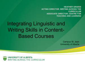 Integrating Linguistic and Writing Skills in Content