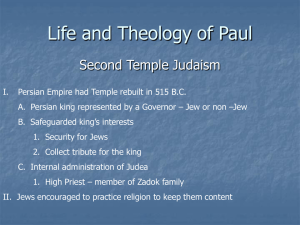 L/T Paul Second Temple Judaism